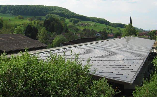 Toit solaire SunStyle sur une pépinière, Zuzgen, Suisse